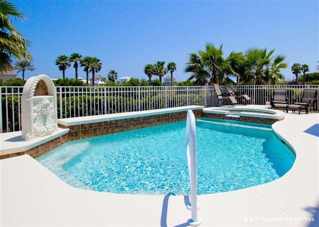 Enjoy our beautiful fenced in outdoor pool & spa. - Avalon House, Cinnamon Beach, private heated pool, spa, elevator - Palm Coast - rentals