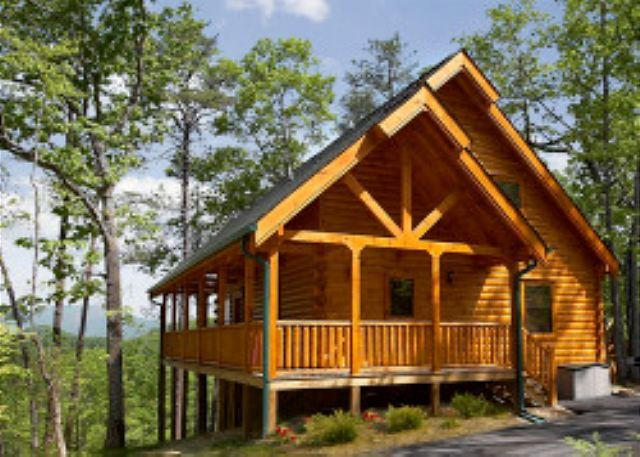 Nice Mountain Views and Privacy in a Luxurious Pigeon Forge Log Cabin! - Image 1 - Sevierville - rentals