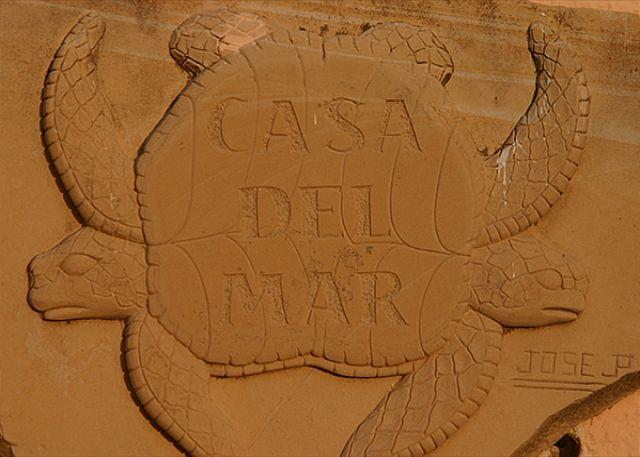 Carved Limestone Sign - Casa del Mar - Akumal - rentals