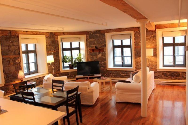 Living Room - Beautiful Loft in Old Montreal - Montreal - rentals