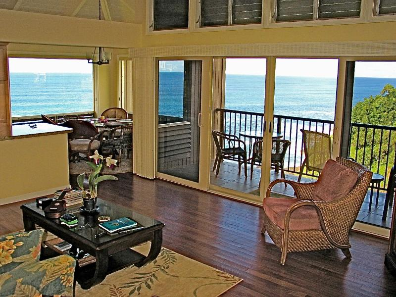 Incredible panoramic ocean views from throughout the condo - HONU COVE - Ocean Bluff Condo - Fully Remodeled - Princeville - rentals