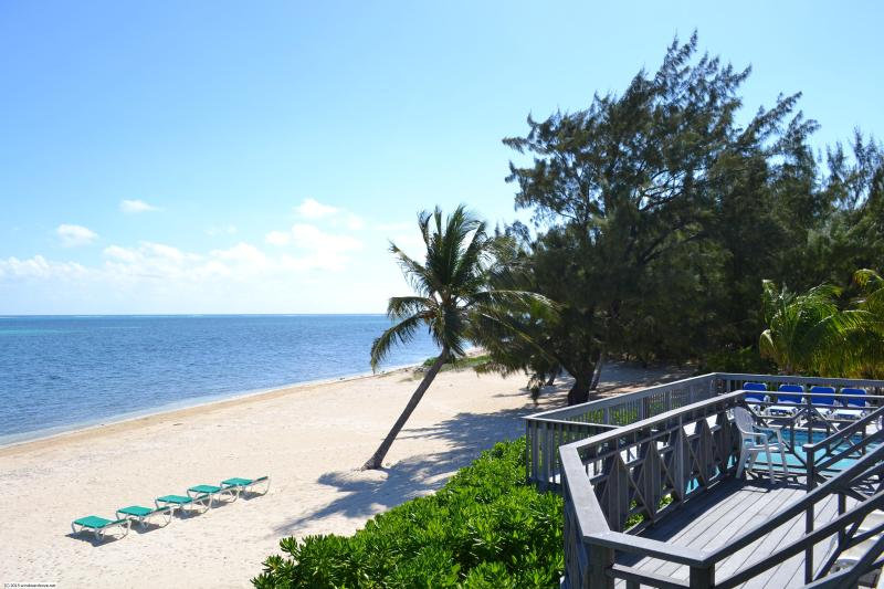 Deck, Beach and Ocean - Windward Cove Villa & Beach - Gun Bay - rentals