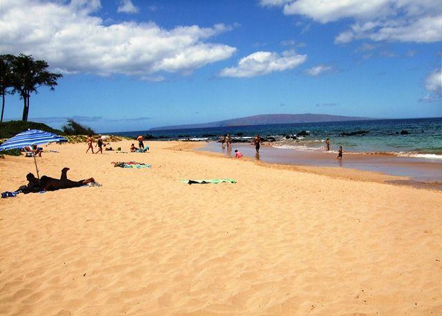 Keawakapu Beach, a short stroll from The Palms at Wailea - Palms at Wailea #1101 Great Ocean Views! Large Sun Deck!  2/2 Great Rates! - Wailea - rentals