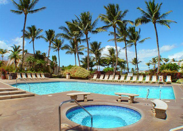 Main pool area - Maui Kamaole #D-107, is a 1Bd 2Ba, Ground Floor Unit That Sleeps 4! - Kihei - rentals