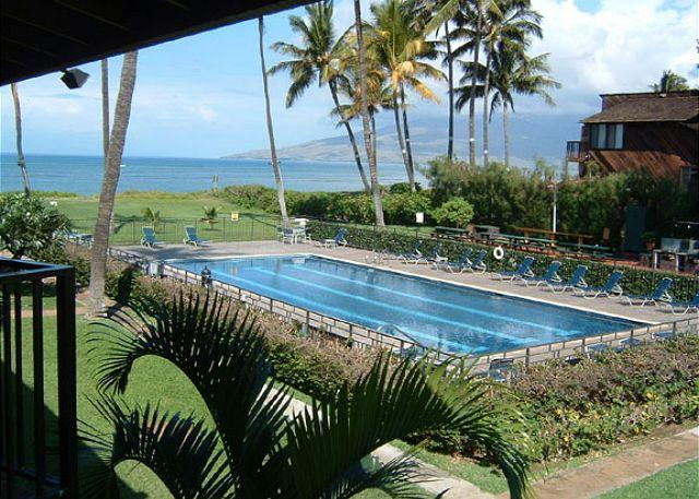 View from Waiohuli Beach Hale # 221 - Waiohuli Beach Hale #D-221 Oceanfront Ocean View 1 Bd 1 Ba  Great Rates!! - Kihei - rentals