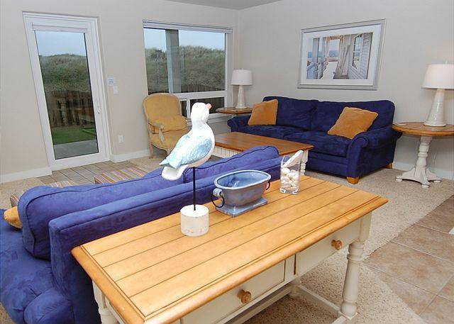 Unit 915 Living Room - Oceanfront Luxury Condo, Step off your Patio onto the Dunes! - Westport - rentals