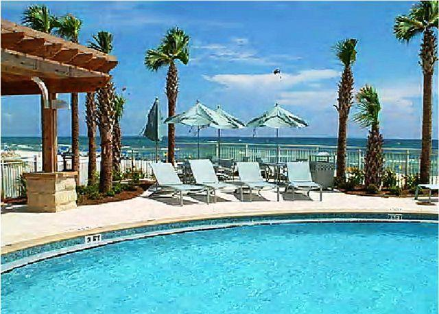 Resort Pool Deck & Gulf View - Beautiful Beachfront Property for 8 Starting 3/14 - Panama City Beach - rentals