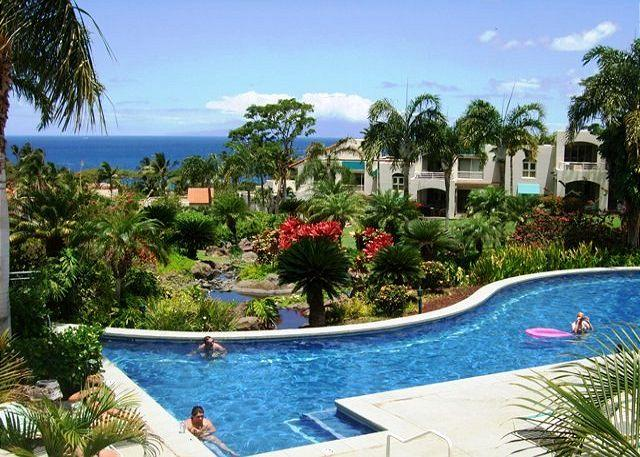 Palms at Wailea #1501 Ocean View Inner Court Ground Floor 1Bd 1Ba Sleeps 4 - Image 1 - Wailea - rentals