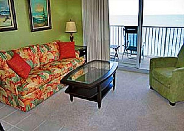 Living Area with Gulf View - Tidewater 1711-229609 - Panama City Beach - rentals