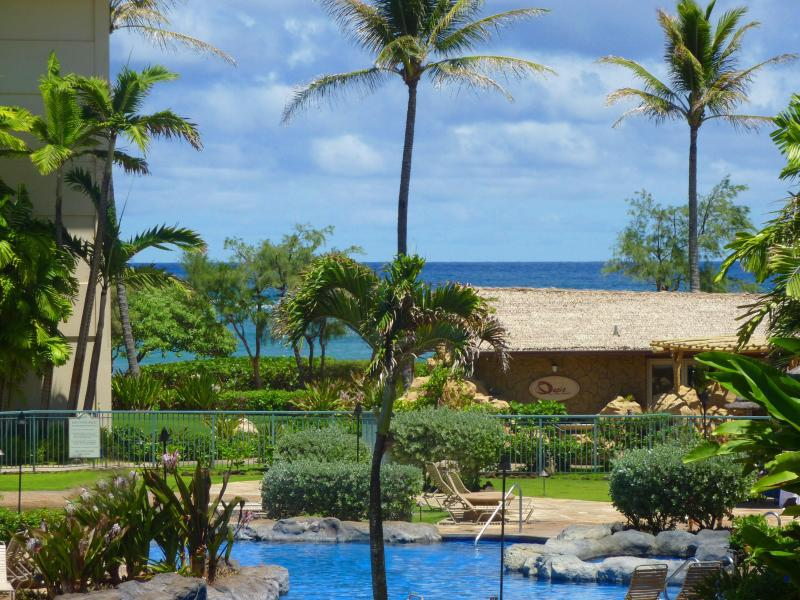 Ocean & Pool View from F204 - Luxury Pool & Ocean View Condo on Kauai! - Kapaa - rentals