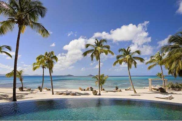 Intimate, sequestered beachfront villa. AQU V1 - Image 1 - Mahoe Bay - rentals