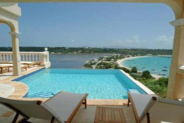 Situated in North Hill overlooking the Sandy Ground harbor. 180-degree view of St. Martin. IDP NIR - Image 1 - North Hill - rentals