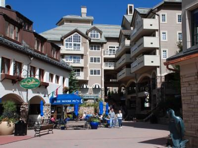 Shops, restaurants, and ice skating rink are literally steps from the condo. - 5 Star Ski-in/Ski-Out Condo - Beaver Creek Village - Beaver Creek - rentals