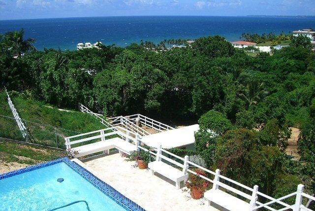 Pool view from 2nd level - 5 Star Affordable Villa at Sandy Beach.. - Rincon - rentals