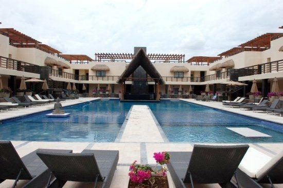 Aldea Thai penthouse Passion- swimming pool common areas - Vacation rentals Playa del Carmen - Aldea Thai PH Passion - Playa del Carmen - rentals