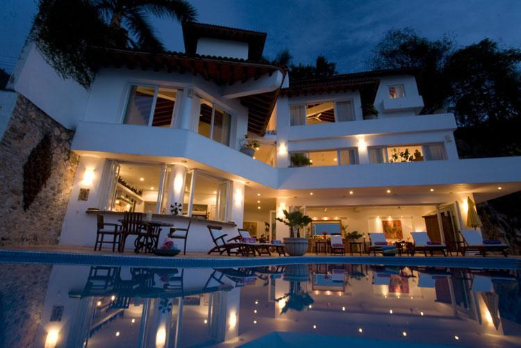 Casa Salinas II - at evening - Family Beach Villa+2 Cottages Puerto Vallarta - Puerto Vallarta - rentals