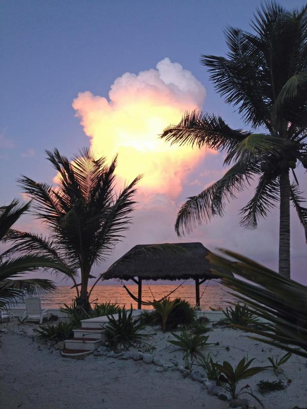Sunset on Soliman Bay in August - SOLIMAN BAY/TULUM MEXICO Villa w/ Private Beach! - Soliman Bay - rentals