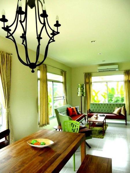 Living area - Retro Villa near beach w/50m pool@Hua Hin-Cha am - Bangkok - rentals
