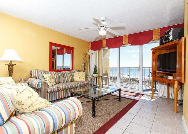 Living Room - GD 208 Serene beach condo- HCA shower,flat screens,pool, FREE BCH SERVICE - Fort Walton Beach - rentals