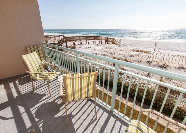 How much closer to the beach can you get? - PI 206:UPDATED  beachfront condo-gulf view,Internet,pool,Free Beach Service - Fort Walton Beach - rentals