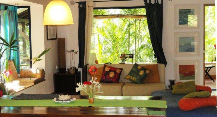 The living room during the monsoons - Little Paradise Cottage in Assagao, North Goa - Assagao - rentals