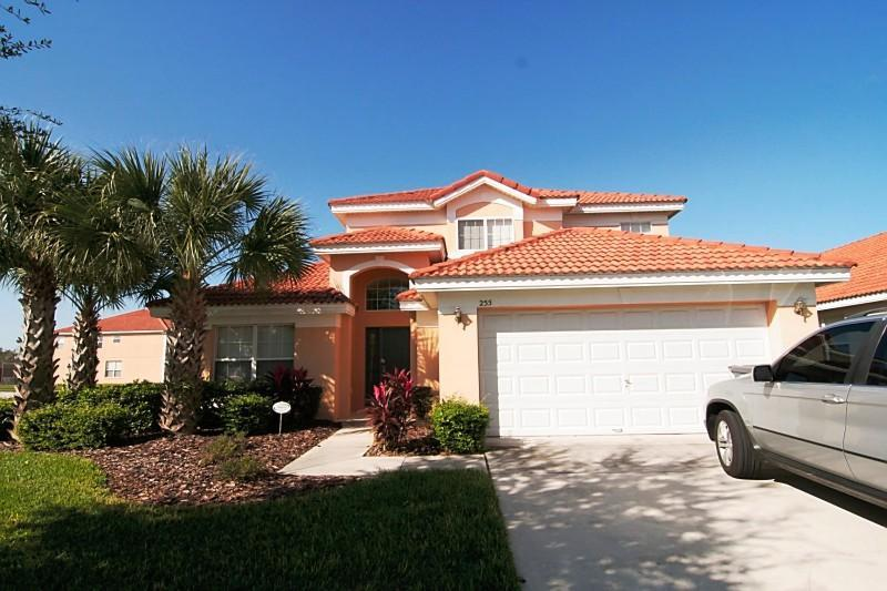 Villa Front - Stunning 5 Bedroom Villa with Hardwood Floors, LED TVs, and Games at the Solana Resort and just 10 minutes from Disney - Kissimmee - rentals