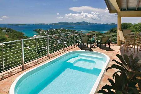 Ginger Thomas - Beautiful villa near Cruz Bay with pool & lovely ocean views - Image 1 - Great Cruz Bay - rentals