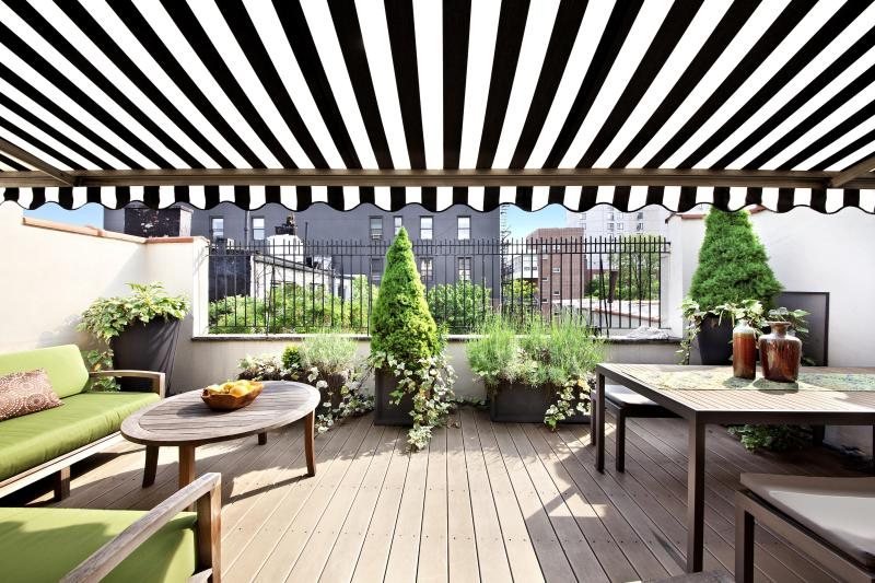 Patio - Penthouse Apartment, Grand Duplex, Manhattan - New York City - rentals