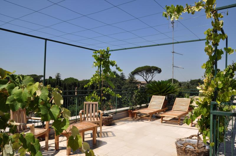 Rooftop terrace with stunning view on the centre of Rome - Big Colosseum penthouse with roof garden over Rome - Rome - rentals