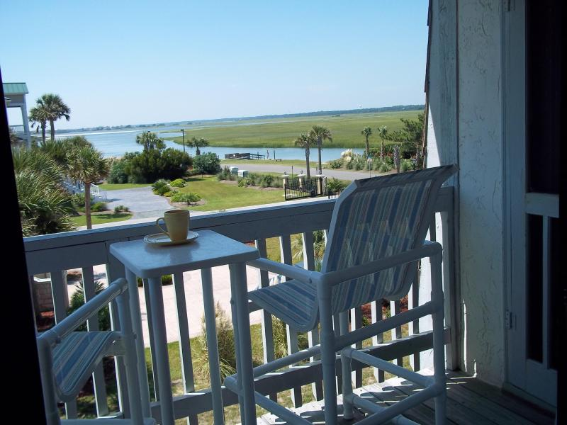 Have morning coffee here or view sunset - STEPS FROM BEACH - RENT DIRECT FROM OWNER AND SAVE - Ocean Isle Beach - rentals