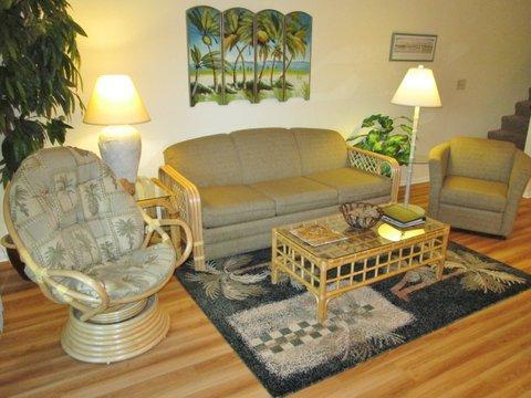 Living Room - Best Address on the Beach - Close to St. Augustine - Saint Augustine Beach - rentals