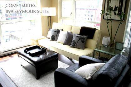 COMFYSUITES: Bravo Suite Living Area - Downtown Vancouver: Yaletown by COMFYSUITES - Vancouver - rentals