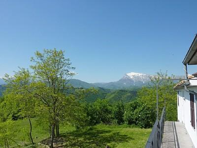 View from Apartment Balcony - Castelfiorito Apartment -Spectacular Mountain View - Ascoli Piceno - rentals