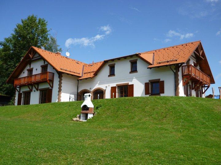 Villa Victoria - exterior view Summer - VILLA VICTORIA- Luxury Family House near lake&ski - Lipno nad Vltavou - rentals