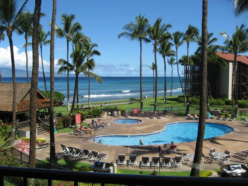 View from lanai-  You can truly hear the ocean! - 2/2 BEST OCEANVIEW *April 26-May 3* SALE 200/nt! - Kaanapali - rentals