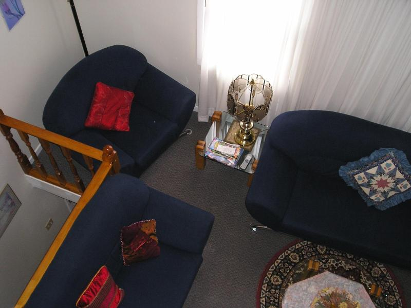 Living Room from Loft - THE APARTMENT at SUSAN'S Guesthouse *Retreat* - Niagara Falls - rentals