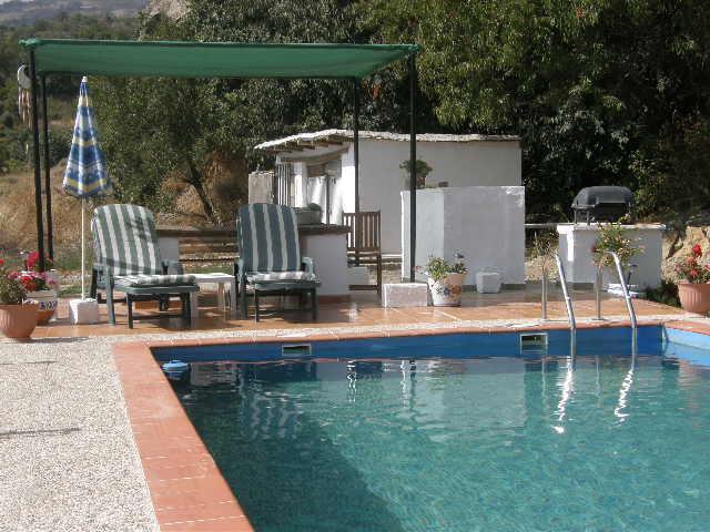 Pool and BBQ area - La Casa Francesa - Valor - rentals