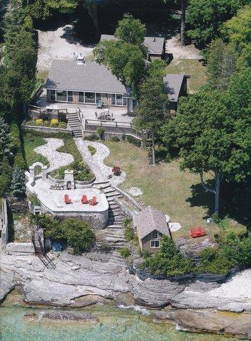 Aerial View of property - Lakefront  Bruce Peninsula, Ontario, Canada - Lion's Head - rentals