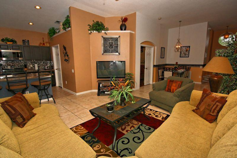 Great Room - Florida Wonder - Pool, Hot Tub, Game Rm, PC & Wii - Florida Wonder - Pool, Hot Tub, Game Room, Wii - Kissimmee - rentals