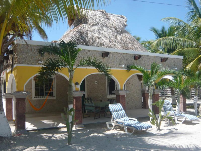 On a nice and sunny day in Paradise at Hacienda Antigua - Private Colonial Beach Hacienda Antigua Villa - El Cuyo - rentals