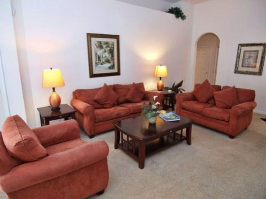 Living Area - TLCP4P189MC 4 BR Luxury Villa with Pool and Spa - Orlando - rentals