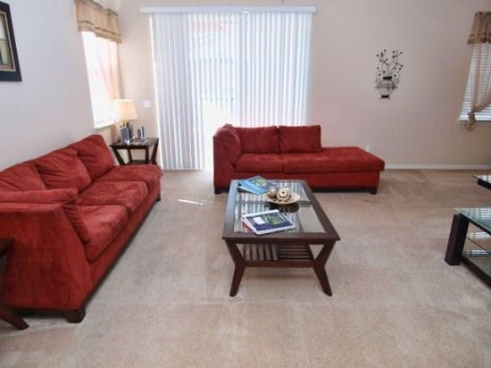 Living Area - SR4P738SJW 4 Bedroom Pool Home with Spa and a Beautiful Patio - Orlando - rentals