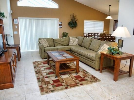 Living Area - WAS3P824OCB 3 BR Villa with Lake View and Free Internet - Orlando - rentals