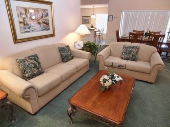 Living Area - CC3P1410SCD 3 BR Pet Friendly Pool Home Near Disney - Four Corners - rentals