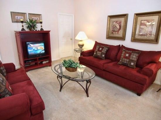 Living area with TV set - HG3P418SPL 3 BR Vacation Pool Home with Amenities Galore! - Orlando - rentals