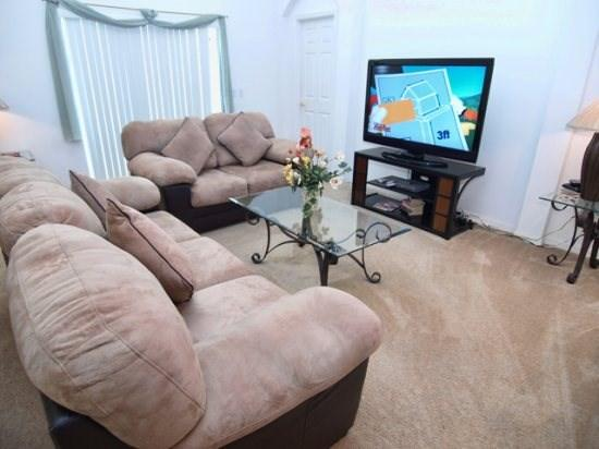 Living Area - WHS4P706KD 4 BR Home With Spa, Internet and Orange Groves View - Orlando - rentals