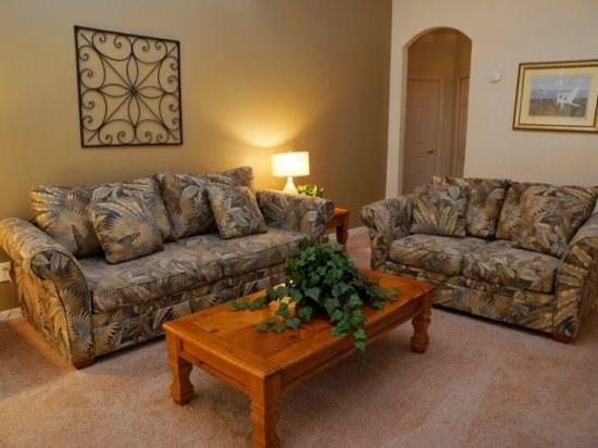 Living Area - CP4P443TC 4 BR Private Pool Home with Modern Amenities - Orlando - rentals