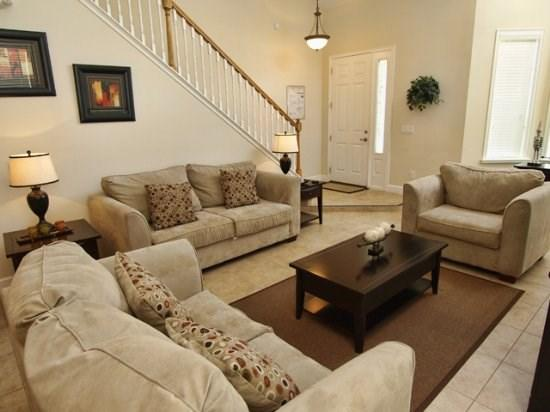 Living Area - PROV5P2179VD 5BR South Facing Pool Home with Lake View - Orlando - rentals