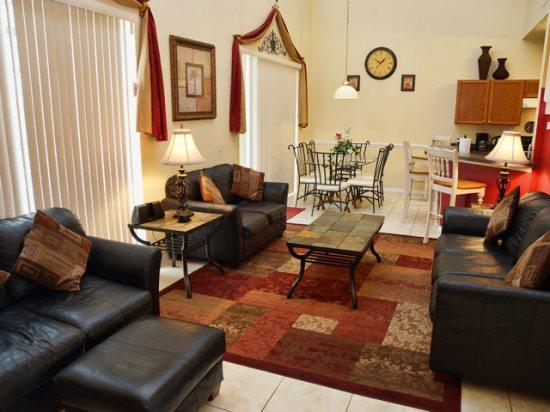 Living Area - CL7P5418CLC 7 BR Pool Home with Lovely Furnishings - Orlando - rentals