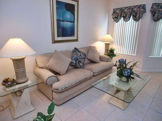Living Area - CP4P408OC 4 BR Vacation Home Overlooking Conservation - Orlando - rentals
